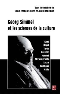Georg Simmel et les sciences de la culture