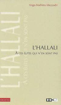 L'hallali : à ces élites qui n'en sont pas