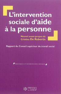 L'intervention sociale d'aide à la personne