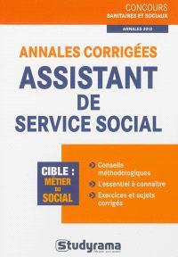 Annales corrigées assistant de service social : cible, métier du social