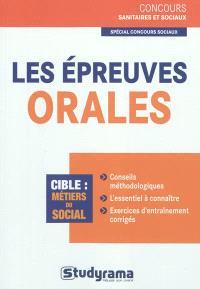 Les épreuves orales : concours sociaux
