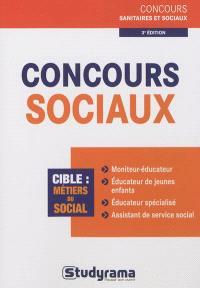 Concours sociaux : cible, métiers du social