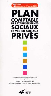 Plan comptable des établissements sociaux et médico-sociaux privés : modèles de documents de synthèse, modèle de bilan financier et principaux indicateurs d'analyse financière
