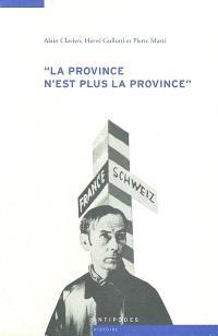 La province n'est plus la province : les relations culturelles franco-suisses à l'épreuve de la Seconde Guerre mondiale, 1935-1950