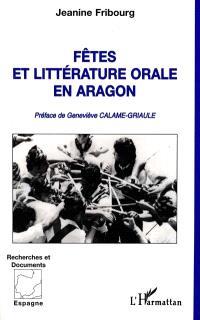 Fêtes et littérature orale en Aragon