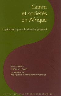 Genre et sociétés en Afrique : implications pour le développement