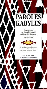Paroles kabyles