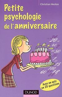 Petite psychologie de l'anniversaire