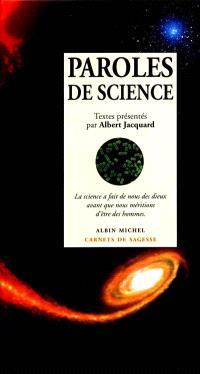 Paroles de science