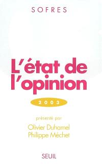 L'état de l'opinion : 2003