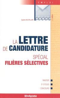 La lettre de candidature : spécial filières sélectives