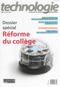 Technologie. n° 203, Réforme du collège