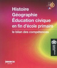 Histoire, géographie, éducation civique en fin d'école primaire : le bilan des compétences