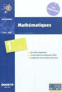 Mathématiques : classe de première des séries STD2A, STI2D et STL : programme en vigueur à la rentrée de l'année scolaire 2011-2012