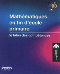 Mathématiques en fin d'école primaire : le bilan des compétences