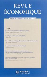 Revue économique. n° 65-6
