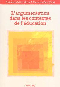 L'argumentation dans les contextes de l'éducation