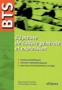 L'épreuve de culture générale et expression, BTS