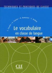 Le vocabulaire en classe de langue