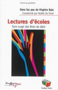 Dans les pas de Virginio Baio, lectures d'école : faire surgir des êtres de désir