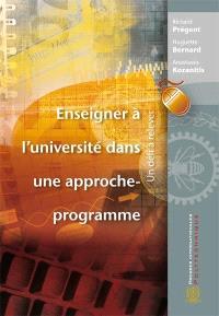 Enseigner à l'université dans une approche-programme  : un défi à relever