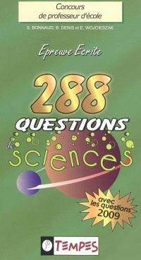 288 questions de sciences : avec 107 confusions à éviter : concours de professeur d'école