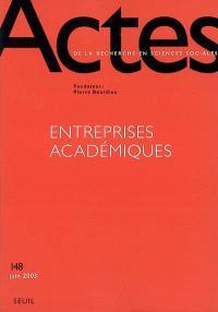 Actes de la recherche en sciences sociales. n° 148, Entreprises académiques