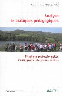 Analyse de pratiques pédagogiques : situations professionnelles d'enseignants-chercheurs novices