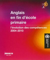Anglais en fin d'école primaire : l'évolution des compétences, 2004-2010