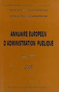 Annuaire européen d'administration publique. n° 30, L'enseignement supérieur en Europe