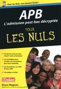 APB : l'admission post-bac décryptée pour les nuls
