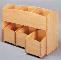 Bac à livres 3 cases, hêtre : offre spéciale