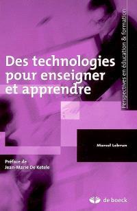 Des technologies pour enseigner et apprendre