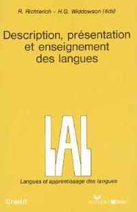 Description, présentation et enseignement des langues