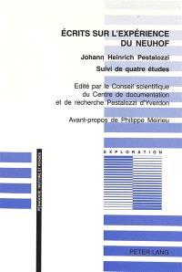 Écrits sur l'expérience de Neuhof