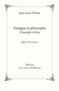 Enseigner la philosophie : l'exemple italien