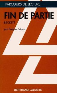 Fin de partie, de Beckett