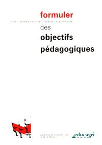 Formuler des objectifs pédagogiques : manuel d'autoformation