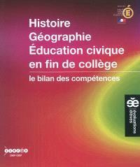 Histoire, géographie, éducation civique en fin de collège : le bilan des compétences
