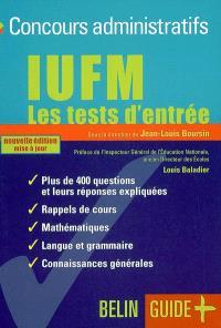 IUFM, les tests d'entrée