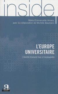 L'Europe universitaire : l'identité étudiante face à l'employabilité