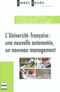L'université française : une nouvelle autonomie, un nouveau management