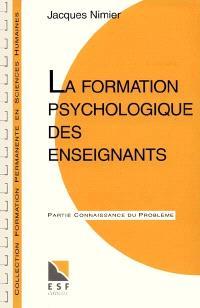 La formation psychologique des enseignants