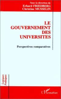 Le Gouvernement des universités : perspectives comparatives, actes