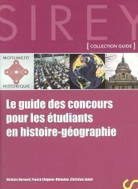 Le guide des concours pour les étudiants en histoire-géographie