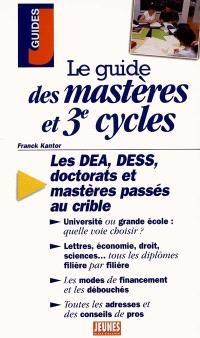 Le guide des mastères et 3e cycles