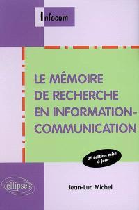 Le mémoire de recherche en information-communication