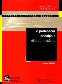 Le professeur principal : rôle et missions