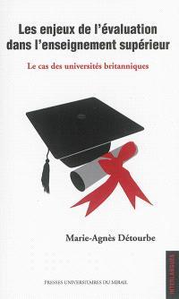 Les enjeux de l'évaluation dans l'enseignement supérieur : le cas des universités britanniques