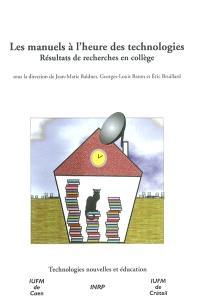 Les manuels à l'heure des technologies : résultats de recherche en collège